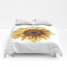 Lone Sunflower Comforters