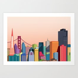 City San Francisco Art Print