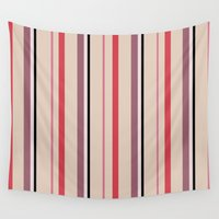 stripe Wall Tapestries featuring Stripe by Tayler Willcox