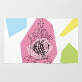 Fishy in Cage Rug