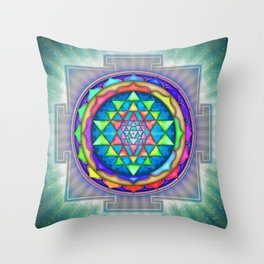 Sri Yantra VII.XI Throw Pillow