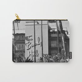 Beverly Hills Hotel, California black and white photograph / black and white photography Carry-All Pouch