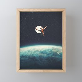 Returning to Earth with a will to Change Framed Mini Art Print