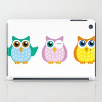 owls iPad Cases featuring owls by Li-Bro