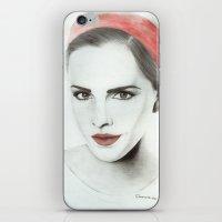 emma watson iPhone & iPod Skins featuring Emma Watson by Simona Borstnar