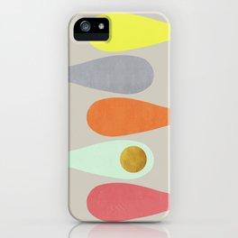 Vintage minimal improvisation 3 iPhone Case