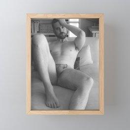 Nude Male Soft Light Framed Mini Art Print