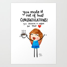 Congratulations! Art Print