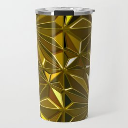 3-D Art Deco 24-Karat Gold Hues Tile Pattern Travel Mug
