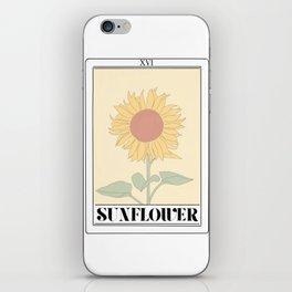 the sunflower tarot card iPhone Skin