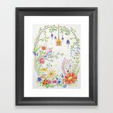 garden and bird Framed Art Print
