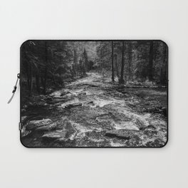 River in the Forest Black and White Laptop Sleeve