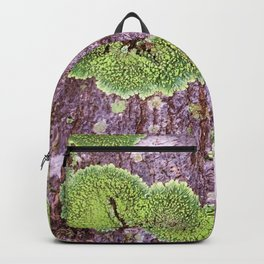 Tree Bark Pattern with Lichen #7 Backpack