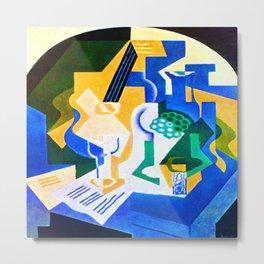 Juan Gris Fruit Bowl and Mandolin Metal Print