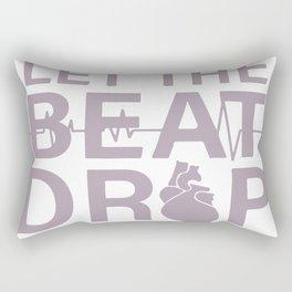 Let The Beat Drop Rectangular Pillow