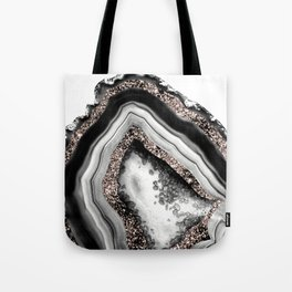 Agate Rose Gold Glitter Glam #4 #gem #decor #art #society6 Tote Bag