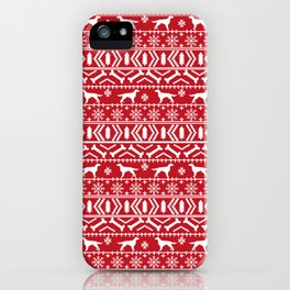 Irish Setter fair isle christmas red and white holiday sweater gifts dog breed iPhone Case