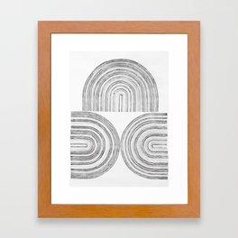 Line drawing 5 Framed Art Print
