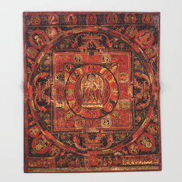 Mandala of Amogapasha Throw Blanket