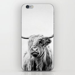 portrait of a highland cow - vertical orientation iPhone Skin