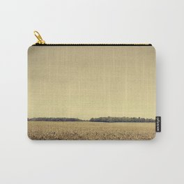Lonely Field in Brown Carry-All Pouch