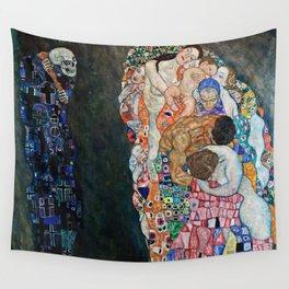 Gustav Klimt - Death And Life Wall Tapestry