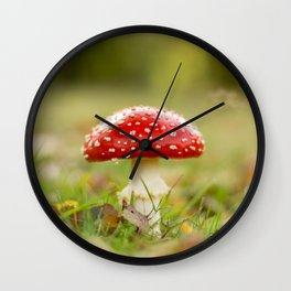 White dotted red hood Wall Clock