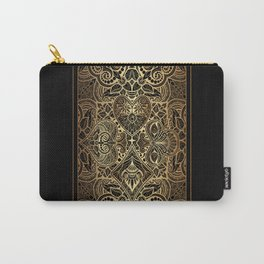 Ornament Gold Playing Card Carry-All Pouch