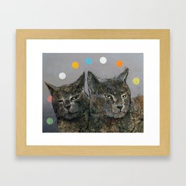 Grey Cats Framed Art Print
