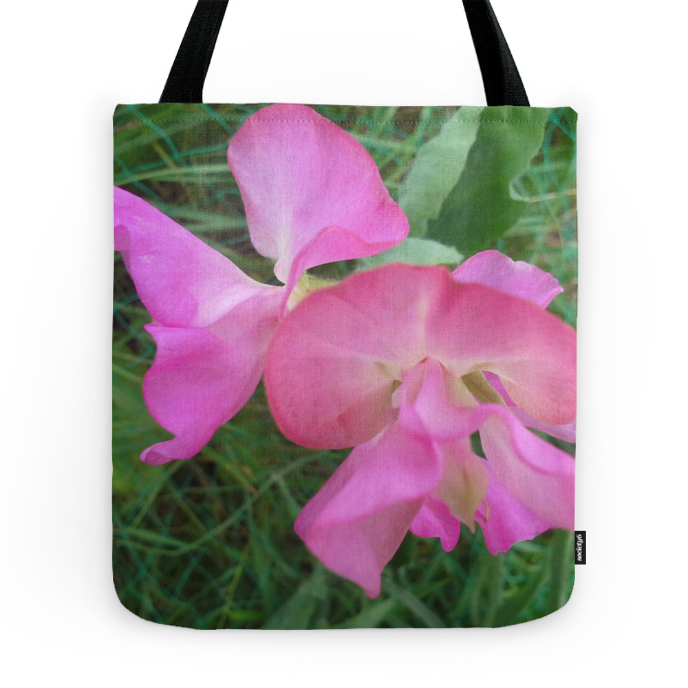 Pink Sweet Pea Tote Purse by jillou (TBG7477402) photo
