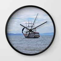 pirate Wall Clocks featuring Pirate by Caio Trindade