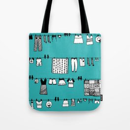 Laundry Doodle Tote Bag