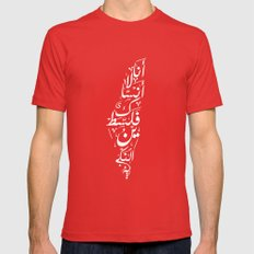 Palestine MEDIUM Mens Fitted Tee Red