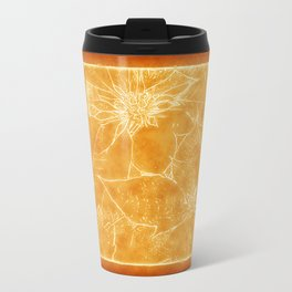 Mixed Color Poinsettias 2 Outlined Orange Travel Mug