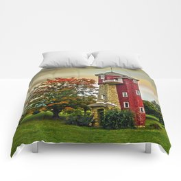 Autumn Water Tower Comforters