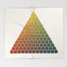 Lichtenberg-Mayer Colour Triangle vintage remake, based on Mayers' original idea and illustration Throw Blanket