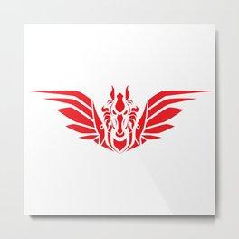 Pegasus (R/W) Metal Print