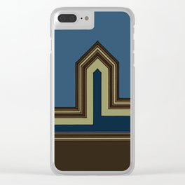 Line Houses - Color Clear iPhone Case
