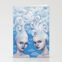 gemini Stationery Cards featuring Gemini by Artist Andrea
