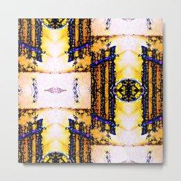 Art Deco Weave Metal Print