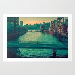 Osaka Lonely Bridge Art Print