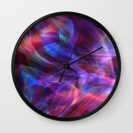 Abstract Shiny Night Lights 20 Wall Clock