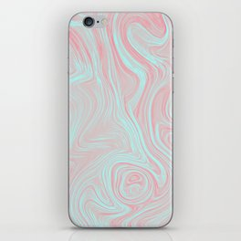 Pink oil spills iPhone Skin