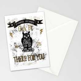 Forest Stories Owl Be There For You Stationery Cards