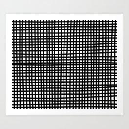 Black and White Gingham Art Print