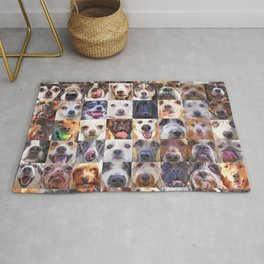 Dogs Face  Rug