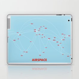 Air route and airport hub Airspace map Laptop & iPad Skin