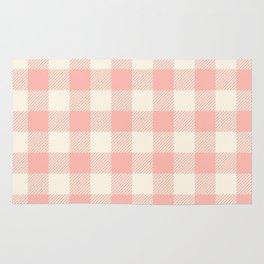 PASTEL GINGHAM 02, blush pink squares Rug
