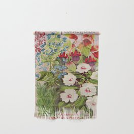 Vintage Flowers Advertisement Collage Wall Hanging