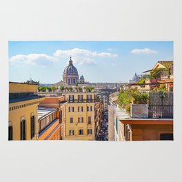ROME the Streets:  Rooftop View of Rome, Italy Rug